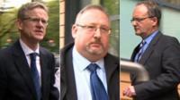Chief executive Anthony O'Sullivan, his deputy Nigel Barnett, and head of legal services Daniel Perkins
