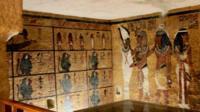 Replica tomb wall