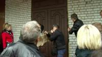 Activists storm Odessa police station