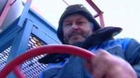 Russian gas worker