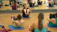 Women at exercise class