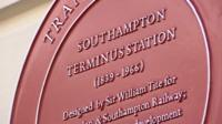 Plaque at former Southampton Terminus Station