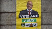 ANC poster on fence