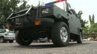 An armed car in Nigeria