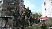 Government troops in Homs