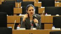 MEP Amelia Andersdotter in the European Parliament