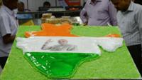 Cake in shape of map of Indian