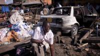 A member of the Kenyan bomb squad