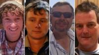 James Male, Andrew Bridge, Steve Warren and Paul Goslin (l-r)