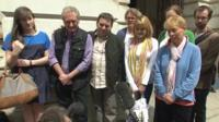 The families of the missing British yachtsmen