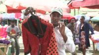 A trader in Eastleigh, Nairobi, Kenya