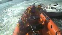 The incident was captured by an RNLI camera