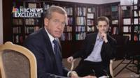 Snowden, right, granted his first full-scale media interview since the leaks, to Brian Williams of NBC