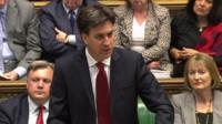 Ed Miliband in the House of Commons