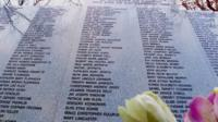 Memorial to those who died in the Lockerbie bombing