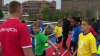 Children on Millennium Bridge