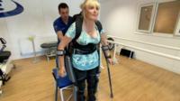 Valerie Fisher, Exoskeleton user