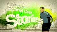 Animated graphic reading: Newsnight World Cup Stories