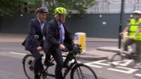 Boris and Jeremy on a tandem