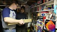 Michael Thomasson looks at his video collection - the largest in the world