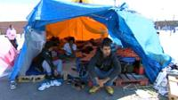 Migrants on hunger strike