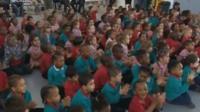 Children at launch