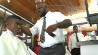 Barber in Ivory Coast