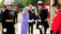 The Queen and the Duke of Edinburgh at the Royal Hospital Chelsea in London