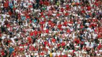 England fans v Uruguay
