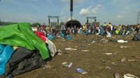 Glastonbury festival clear up