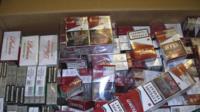 Stash of illegal cigarettes