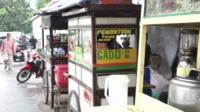 Indonesian street vendors