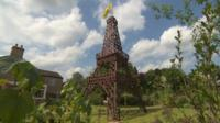 A replica Eiffel Tower