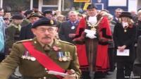 Arthur Jones in a remembrance service