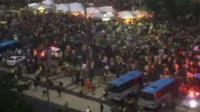 Fans flee Copacabana beach