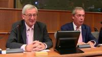 Jean-Claude Juncker and Nigel Farage