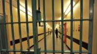 Barred door in corridor, Wormwood Scrubs