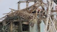 The Fukushima plant in the wake of the tsunami