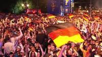 German fans celebrating