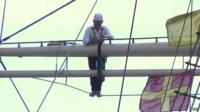 John Maguire reports from atop the rigging of the SS Great Britain