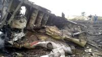 site of a Malaysia Airlines Boeing 777 plane crash