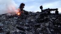 smouldering wreckage