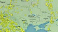 radar image showing location of planes