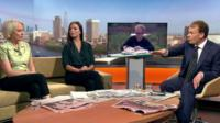 Sarah Baxter, Sara Firth, Robin Ince and Andrew Marr