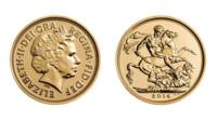 The sovereign struck on Prince George's first birthday