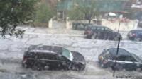 Hailstorm in Brighton