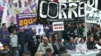Recent demonstration in Argentina
