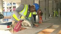 Skilled worker on a building site
