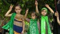 Three Gazan girls