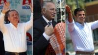 Prime Minister Recep Tayyip Erdogan, Ekmeleddin Ihsanoglu, Selahattin Demirtas